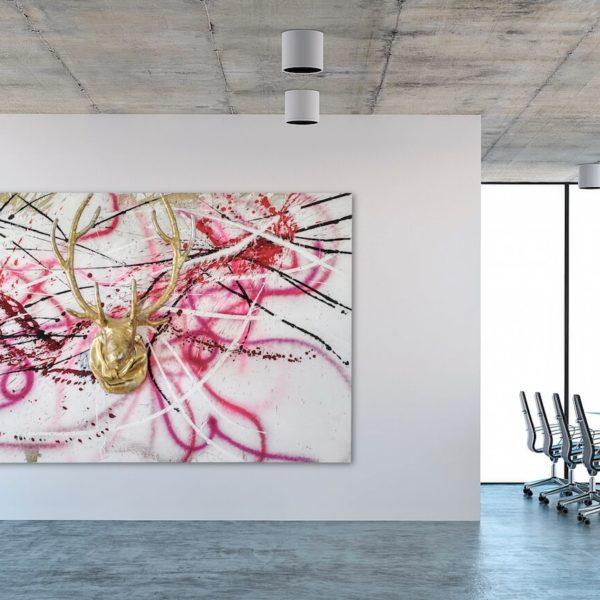 buntes Leinwandbild im Office_abstrakte Kunst_interior design | Nonos