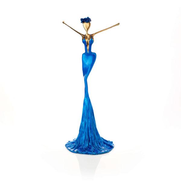 blaue Bronzeskulptur_Artdepot | Nonos