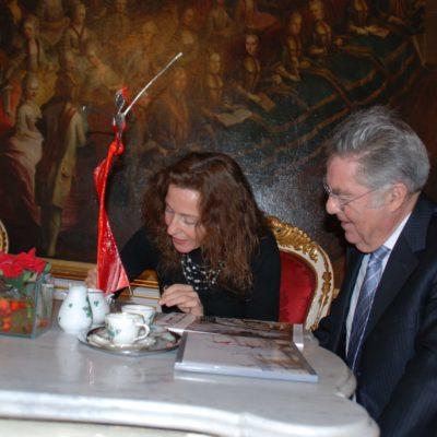 Mercedes und Franziska Welte zu Besuch beim Bundespräsident Dr. Fischer in der Hofburg