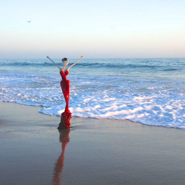Skulptur am Meer in Santa Monica CA