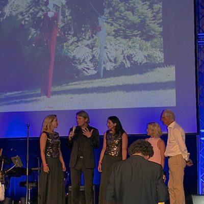 mit Heidi und Franz Beckenbauer auf der Bühne beim Golf Tournier Bad Griesbach - Charity