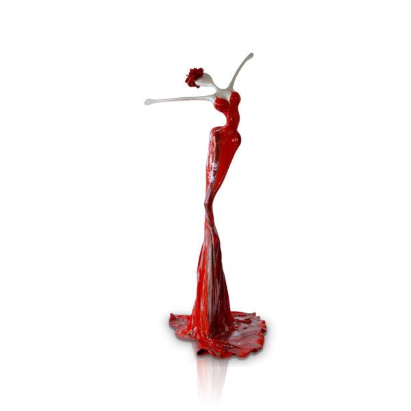 rote, weibliche Skulptur aus Stahl, Fiberglas und Epoxydharz_Interior Design | Nonos