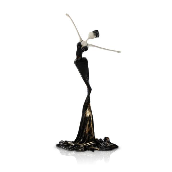 schwarze, weibliche Skulptur aus Stahl, Fiberglas und Epoxydharz_Interior Design | Nonos
