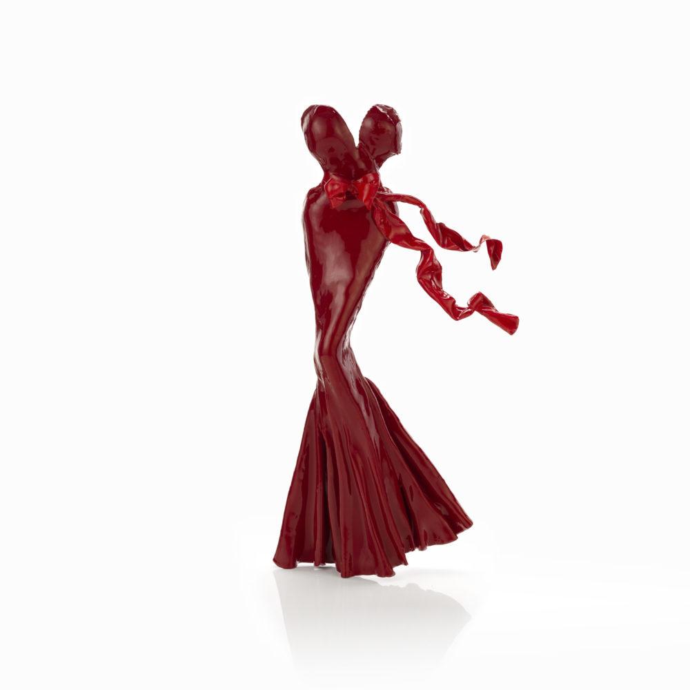 rotes Kleid aus Karbon und Harz_Clarisse_carbon couture | Nonos