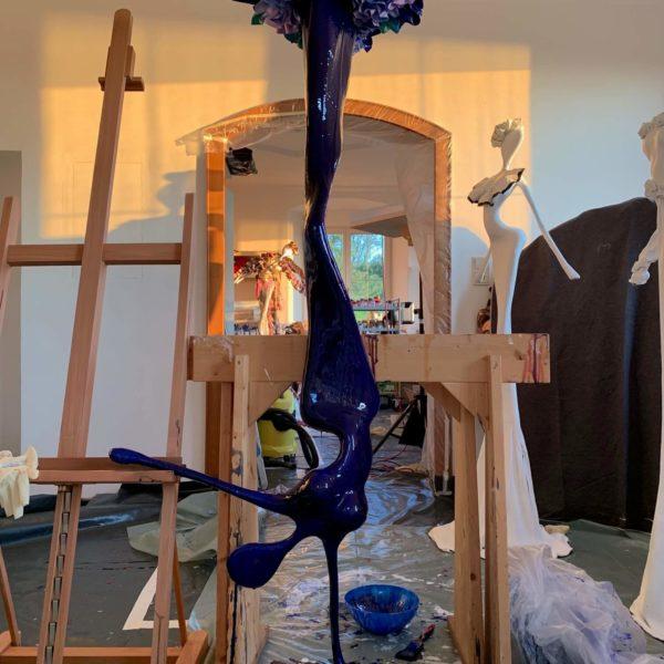 Atelier Farbe Pigmente Skulptur