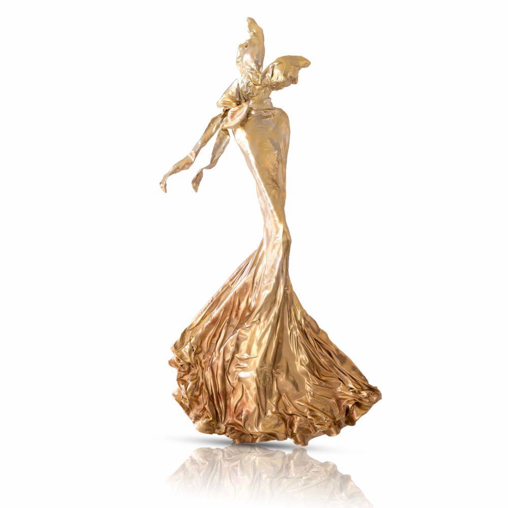 Kleid aus Karbon und Harz_gold_Carbon Couture | Nonos