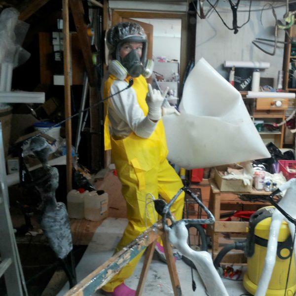 Fun im Atelier im Dachboden