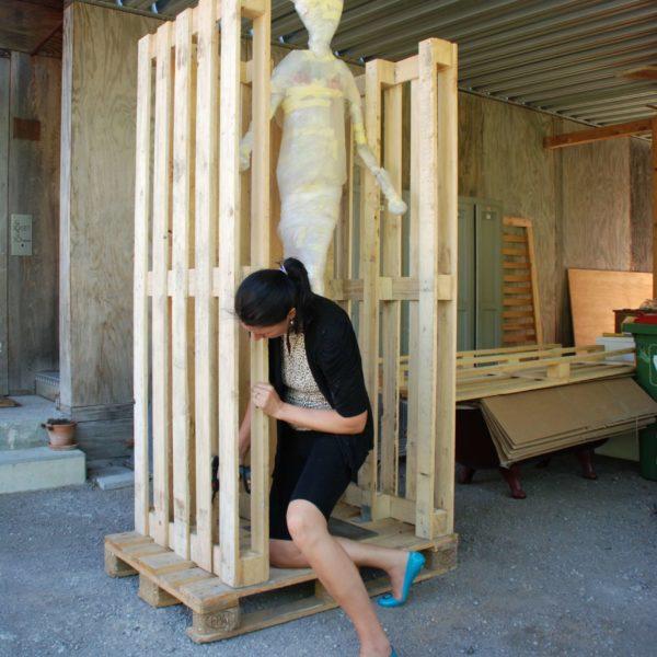 Kiste für Skulptur