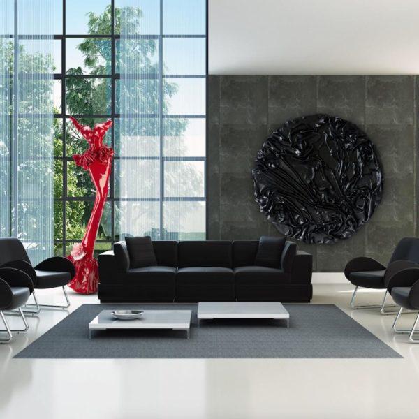 rotes Kleid aus Karbon und Harz_Carbon Couture_Interior Design | Nonos