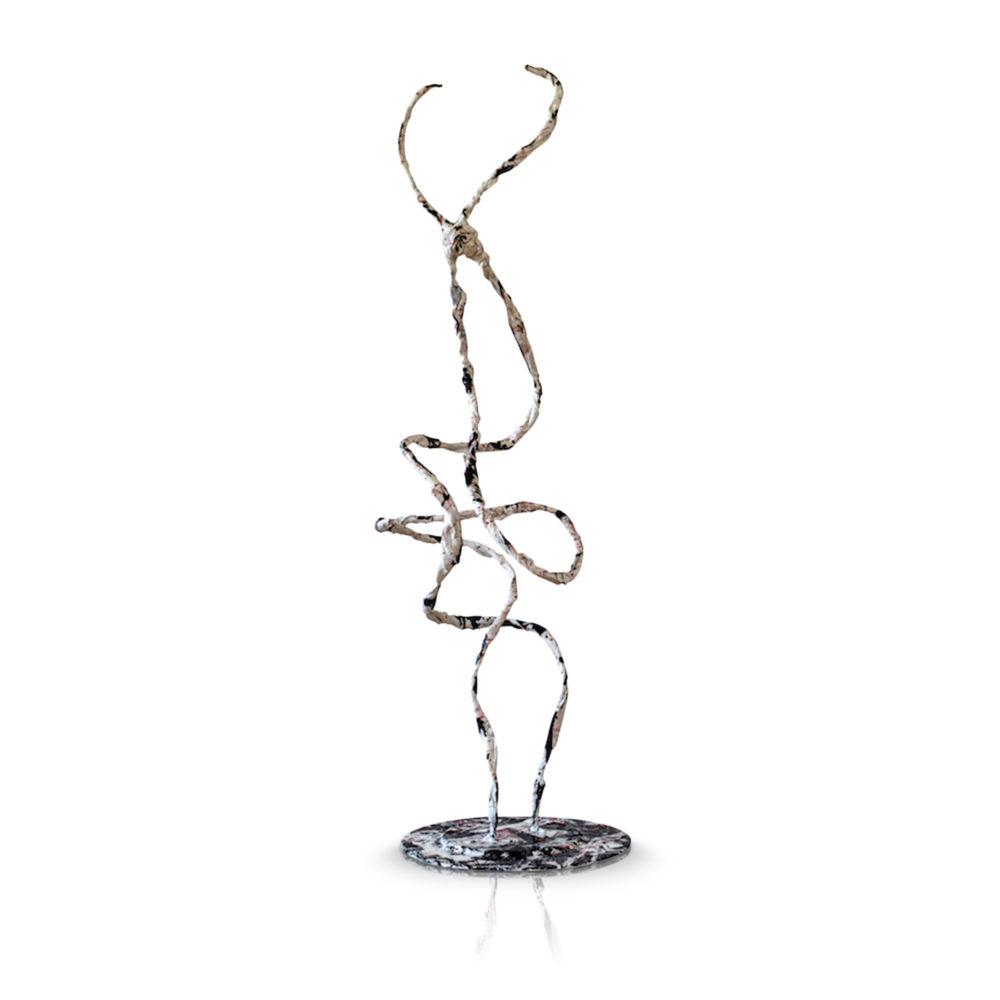 abstrakte Kunst_Skulptur aus Metall und Fiberglas_Raritäten   Nonos