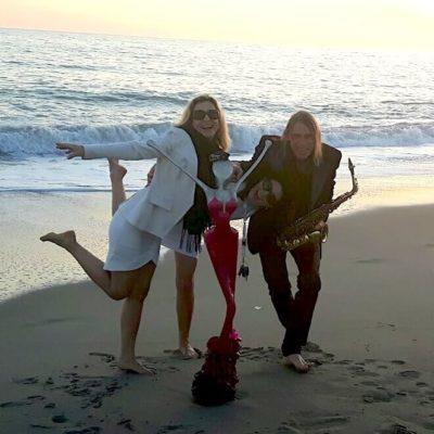 Malibu Kalifornien,nonos art on the beach in santa monica
