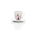 Espressotassen aus Porzellan_Stay together_gold, weiß, rot | Nonos