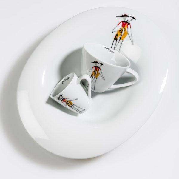 Teller und Tassen aus Porzellan_Rochini | Nonos