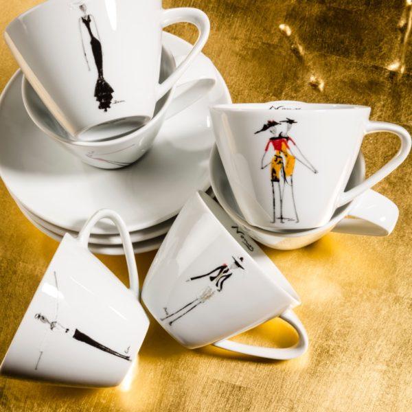 Kaffetassen aus Porzellan_Rochini Kaffeservice | Nonos