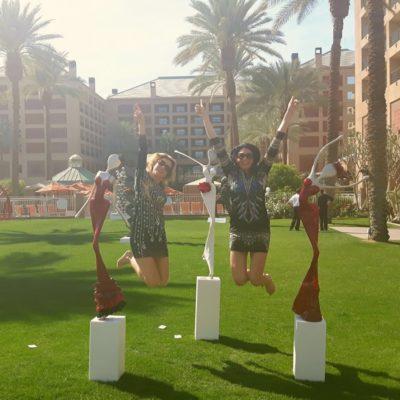 Skulpturen Ausstellung mit den Welte Schwestern in Kalifornien