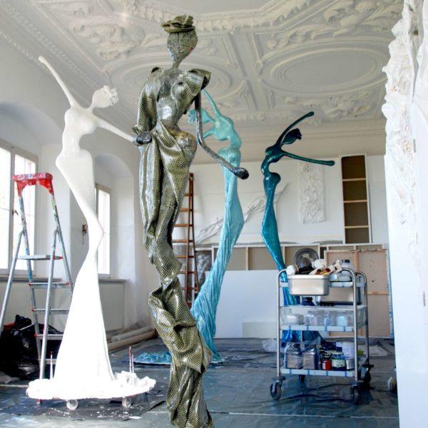 Skulpturen aus Karbon