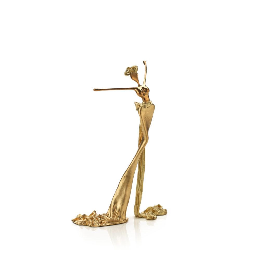 goldene, weibliche Bronzeskulptur_Celine_Interior Design | Nonos