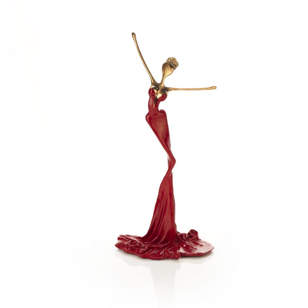 rote, goldene, weibliche Bronzeskulptur_Charlotte_Interior Design | Nonos