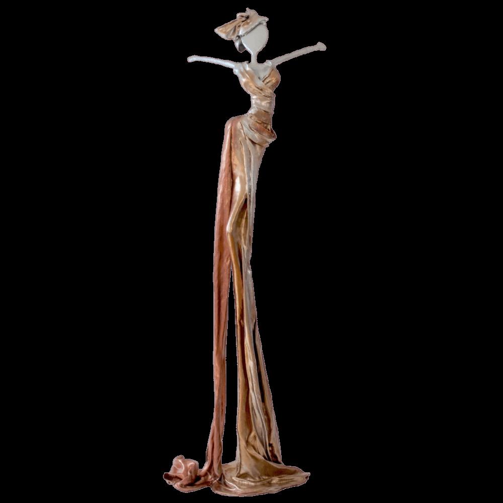 gold, weiße, weibliche Bronzeskulptur_Eva_Interior Design   Nonos