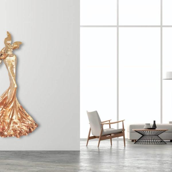 goldenes Kleid aus Karbon und Harz_Carbon Couture_Interior Design | Nonos