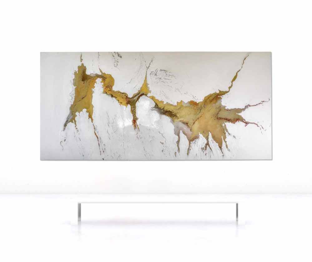 Leinwandbild_abstrakte Kunst__gold_interior design   Nonos