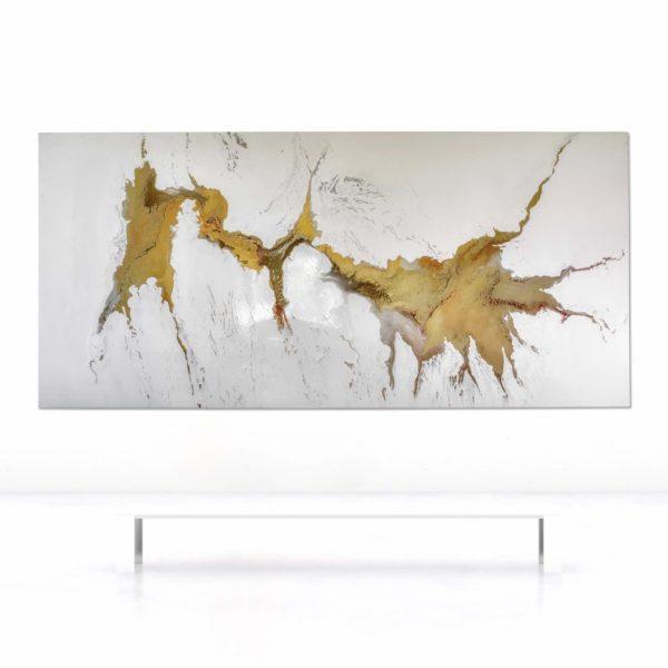 Leinwandbild_abstrakte Kunst__gold_interior design | Nonos
