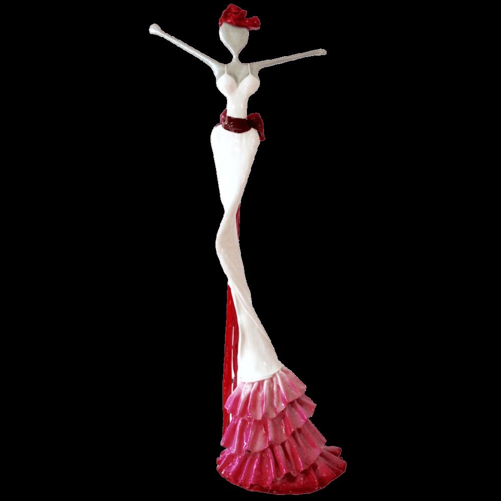 weiß, pinke, weibliche Skulptur für den Park_Julia_Outdoor   Nonos