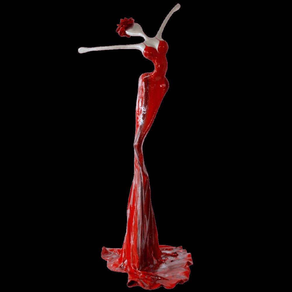 rote, weibliche Skulptur für den öffentlichen Raum_Marlen_Outdoor   Nonos