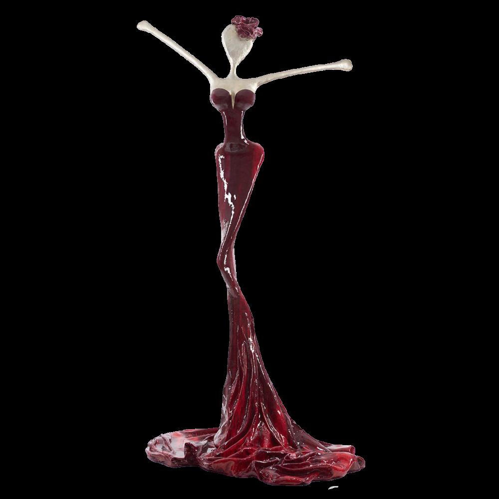 rot, weiße, weibliche Bronzeskulptur_Nora_Interior Design   Nonos