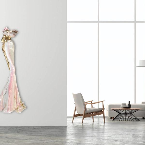 weißes Kleid aus Karbon und Harz_Carbon Couture_Interior Design | Nonos