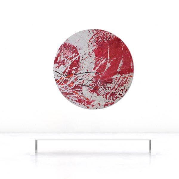 Wandobjekt_rund_rot_abstrakte Kunst_Beispielbild | Nonos