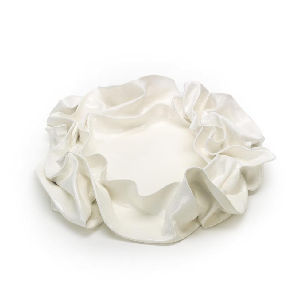 weiße Schale aus Carbon, Harz_Interior Design_abstrakte Kunst | Nonos